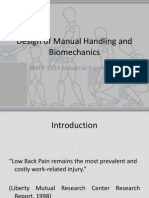 Lecture 3 Design of Manual Handling and Biomechanics