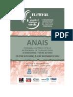 Anais Festival Ginastica Seminario Cultura Corporal UFBA