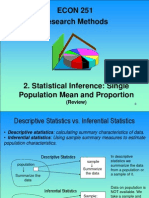 2. Statistical Inference - Single Population
