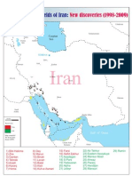 Iran Oil and Gas Fields Map (New Fields)