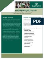 Babson Enterprise Education Entrepreneurship Program