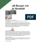 Meatball Rezept Wie Man Ein Meatball
