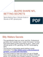 Best NFL Betting Systems and Sports Gambling Secrets Revealed
