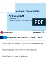 Air France / KLM - Corporate Social Responsibility