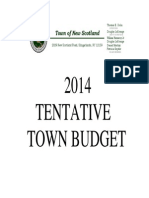 New Scotland 2014 Tentative Budget