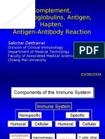 complement system and antibody reaction