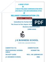 Reliance Communication with competitor