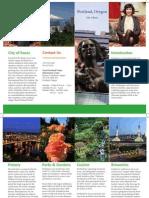Portland, OR brochure mockup