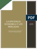 2.2 La Eficiencia Economica y Los Mercados