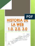 Historia de La Web 1,2 y 3