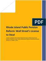 Rhode Island Public Pension Reform-Wall Street's License to Steal