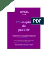 Blais Philo Du Pouvoir