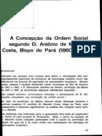 A concepção de ordem social segundo Dom Antonio de Macedo Costa