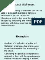 Concept Attainment In Primary Matemathics