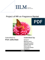 Project on Market Research on Fragnance