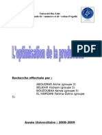 groupe n°04 - l'optimisation de la production