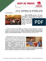Éxito absoluto de la conferencia de Alberto Garzón y Eddy Sánchez en Alcalá