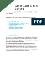 APLICACIONES DE LA WEB 2.0 EN EL ÁMBITO SANITARIO