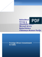 PPT on Foriegn Direct Investment