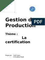 groupe n°11 - la certification