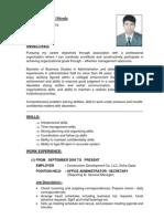 CV Phadi 2009 Admin.
