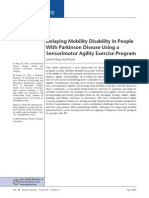 Delaying Mobility Disability in People With Parkinson Disease Using a Sensorimotor Agility Exercise Program