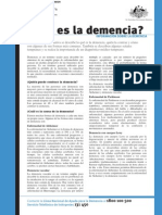 What is Dementia in Spanish