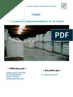 groupe n°35 - la gestion de l'approvisionnement de des stocks