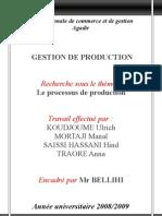 groupe n°40 - le processus de production