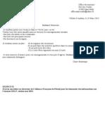 Exemples de Lettre Formelle