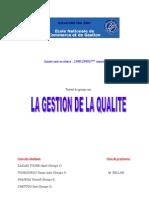 groupe n°45 - gestion de la qualité