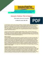 Alternative Medicine Why So Popular