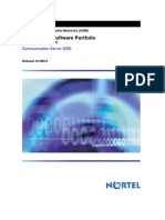 Carrier VoIP Communication Server 2000 International Software Portfolio (I)CVM12 -NN10514-111_12.07