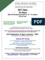 Skype Classes $550+ Target Oct 6 or Nov 3