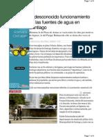 El Desconocido Funcionamiento de Las Fuentes de Agua en Santiago