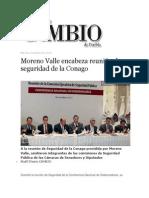 16-10-2013 Diario Matutino Cambio de Puebla - Moreno Valle encabeza reunión de seguridad de la Conago