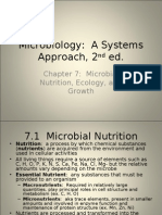 Microbial nutrition, ecology, and growth