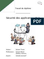 rapport travail de diplôme Sécurité des applications web
