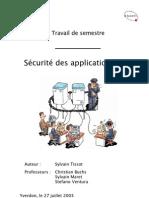 Rapport Travail de Semestre Sécurité des applications WEB