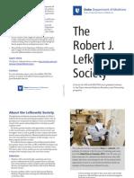 Lefkowitz Society Brochure