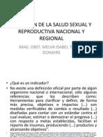 SITUACIÓN DE LA SALUD SEXUAL Y REPRODUCTIVA NACIONAL