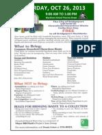 Hazardous Waste 10.26.2013