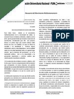 Balance y Propuesta Al Movimiento Multiestamentario