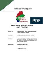 Exp.... Contratacion Tractor -Via Samegua 2011