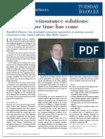 Enterprise Reinsurance Solutions an Idea Whose Time Has Come