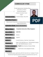 Automobile & Tractors Engineer, 8 years experience, for work in Saudi Arabia