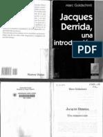Goldschmit Derrida Una Introduccion