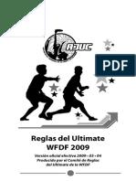 Reglamento de Ultimate WFDF 2009