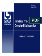 Loews Investor Presentation March 2013