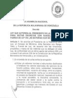Proyecto Ley Habilitante